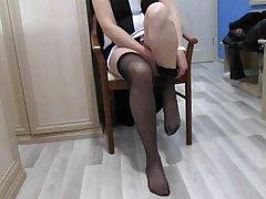 порно себе На еротски секси девојки во црна долна облека