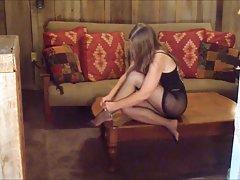 порно онлајн брутална ебам Кучка големи Цицки себе носи до оргазам